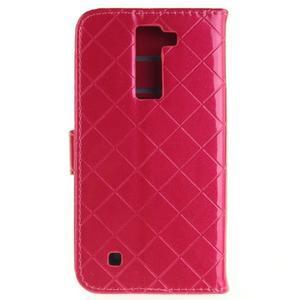Luxusní PU kožené puzdro s přezkou na LG K8 - rose - 2