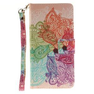 Style PU kožené puzdro pre LG K8 - farebná mandala - 2