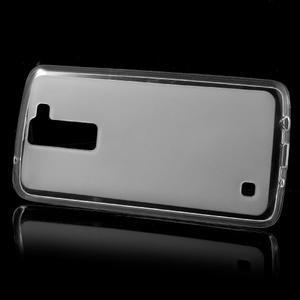 Matný gélový obal pre mobil LG K8 - transparentný - 2