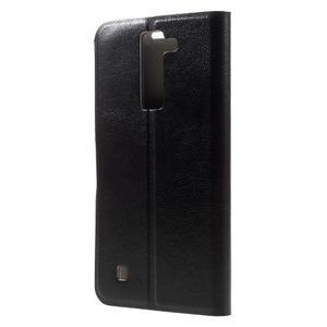 Horse PU kožené pouzdro na mobil LG K8 - černé - 2