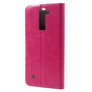 Horse PU kožené puzdro pre mobil LG K8 - rose - 2