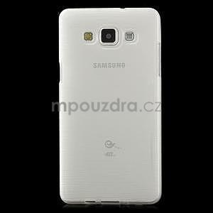 Broušený gélový obal Samsung Galaxy A5 - biely - 2
