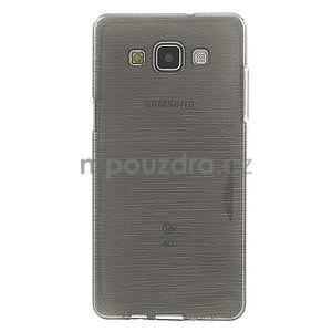 Broušený gélový obal Samsung Galaxy A5 - šedý - 2