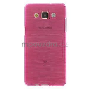 Broušený gélový obal Samsung Galaxy A5 - rose - 2