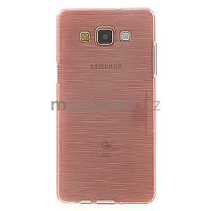 Broušený gélový obal Samsung Galaxy A5 - růžový - 2