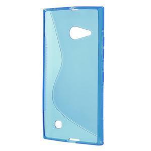 Gélový s-line obal na Nokia Lumia 730 a Lumia 735 - modrý - 2