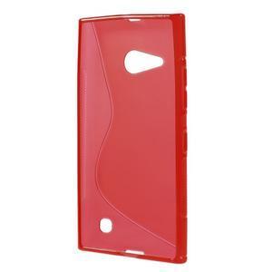 Gélový s-line obal na Nokia Lumia 730 a Lumia 735 - červený - 2