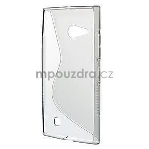 Gélový s-line obal pre Nokia Lumia 730 a Lumia 735 - sivý - 2