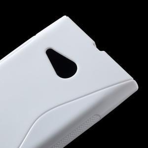 Gélový s-line obal na Nokia Lumia 730 a Lumia 735 - biely - 2