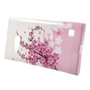 Gélové puzdro na Nokia Lumia 730 a Lumia 735 - kvetoucí větvička - 2