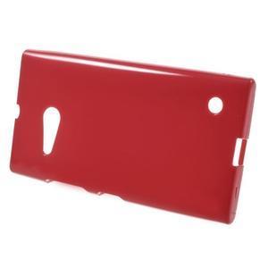 Gélový obal na Nokia Lumia 730 a Lumia 735 - červený - 2