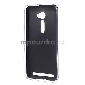 Gélový kryt s imitáciou kože Asus Zenfone 2 ZE500CL - čierny - 2