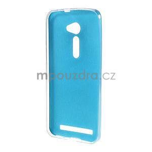 Gélový kryt s imitáciou kože Asus Zenfone 2 ZE500CL - modrý - 2