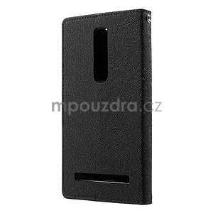 Zapínacie PU kožené puzdro na Asus Zenfone 2 ZE551ML - čierne - 2