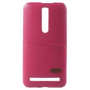 Rose PU kožený/plastový kryt na Asus Zenfone 2 ZE551ML - 2