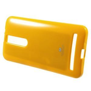 Gélový obal na Asus Zenfone 2 ZE551ML - žltý - 2
