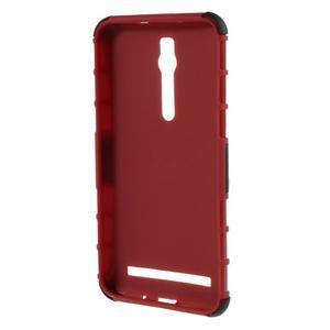 Vysoko odolný gélový kryt so stojanom pre Asus Zenefone 2 ZE551ML - červený - 2