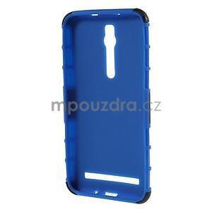 Vysoko odolný gélový kryt so stojanom pre Asus Zenefone 2 ZE551ML - modrý - 2