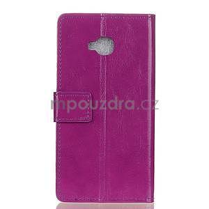 Crazy PU kožené puzdro na mobil Asus Zenfone 4 Selfie Pro ZD552KL - fialové - 2