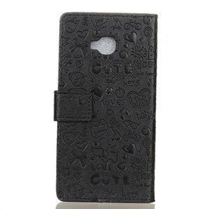 Cartoo knižkové puzdro na Asus Zenfone 4 Selfie Pro ZD552KL - čierne - 2