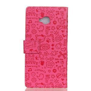 Cartoo knižkové puzdro na Asus Zenfone 4 Selfie Pro ZD552KL - rose - 2