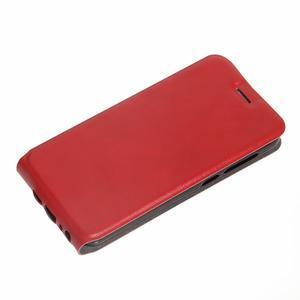 Flipové PU kožené puzdro pre mobil HTC One A9s - červené - 2