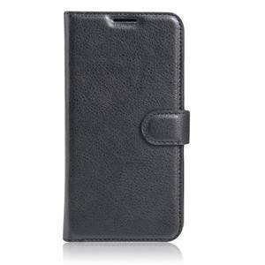 Graines PU kožené puzdro pre HTC One A9s - čierné - 2