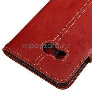 RetroStyle PU kožené puzdro na HTC U11 - červené - 2