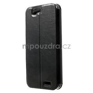 Klopové puzdro na Huawei Ascend G7 - čierne - 2