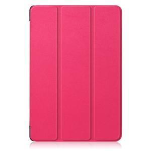 Trifold PU kožené polohovateľné puzdro na Huawei MediaPad M5 10 - rose - 2