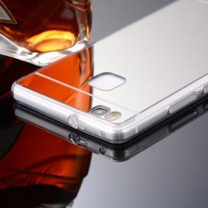 Zrkadlový gélový obal na Huawei P9 Lite - strieborný - 2
