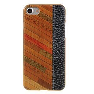 Emotive gélový obal pre iPhone 7 a iPhone 8 - farebné drevo - 2