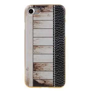 Emotive gélový obal pre iPhone 7 a iPhone 8 - biele drevo - 2