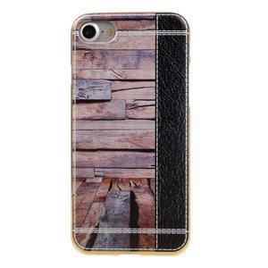 Emotive Gélový obal pre iPhone 7 a iPhone 8 - svetlofialové drevo - 2