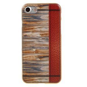 Emotive gélový obal pre iPhone 7 a iPhone 8 - variácie dreva - 2