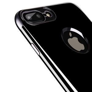 BlackDiamond gélový obal so sivým lemom na mobil iPhone 7 a iPhone 8 - 2