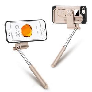 Selfie 2v1 obal pre mobil pro iPhone 7 a iPhone 8 s funkcí bluetooth - rose - 2