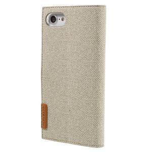 Fashions textilné peňaženkové puzdro pre iPhone 7 a iPhone 8 - khaki - 2