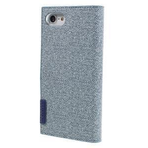 Fashions textilné peňaženkové puzdro pre iPhone 7 a iPhone 8 - modré - 2