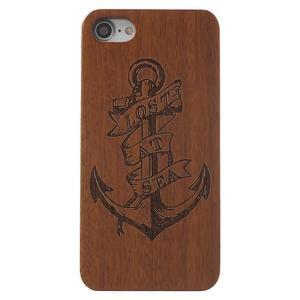 Woody drevený obal s plastovým držaním na iPhone 8 a iPhone 7 - kotva - 2
