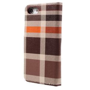 Fashion PU kožené puzdro pre iPhone 8 a iPhone 7 - hnedé - 2