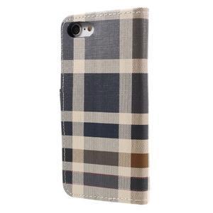 Fashion PU kožené puzdro pre iPhone 8 a iPhone 7 - modré - 2