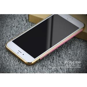 Luxy gélový obal se zlatým lemom na mobil iPhone 8 Plus a iPhone 7 Plus - rose - 2