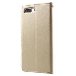 DiaryBravo PU kožené puzdro pre mobil iPhone 7 Plus a iPhone 8 Plus - zlaté - 2