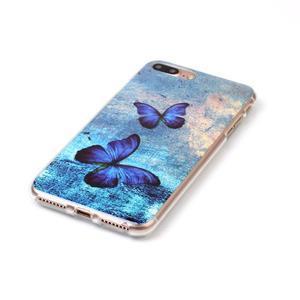 Imope gélový obal pre mobil iPhone 8 Plus a iPhone 7 Plus - modrí motýľe - 2
