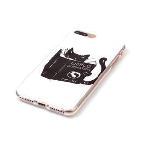 Imope gélový obal pre mobil iPhone 8 Plus a iPhone 7 Plus - mačička čte - 2