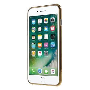 FashionStyle gélový obal s PU koženými chrbtom na iPhone 8 Plus a iPhone 7 Plus - white - 2
