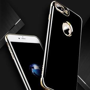 BlackDiamond gélový obal so strieborným lemom na mobil iPhone 7 Plus a iPhone 8 Plus - 2