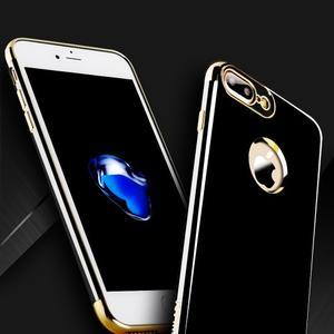 BlackDiamond gélový obal so zlatým lemom na mobil iPhone 7 Plus a iPhone 8 Plus - 2