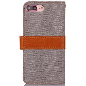 TexaCloth PU kožené/textilné puzdro pre iPhone 7 Plus a iPhone 8 Plus - sivé - 2